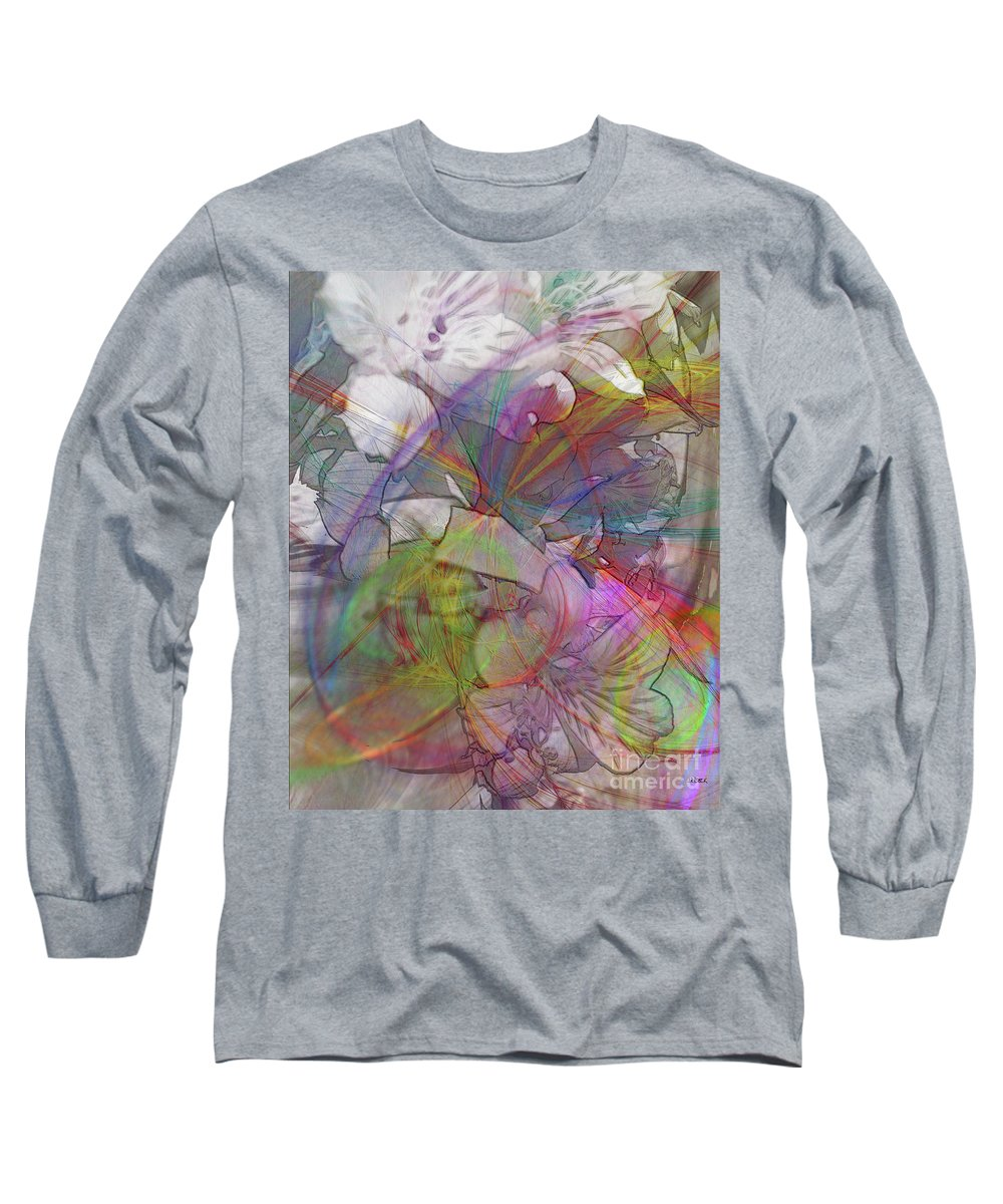 Floral Fantasy Long Sleeve T-Shirt featuring the digital art Floral Fantasy by John Beck