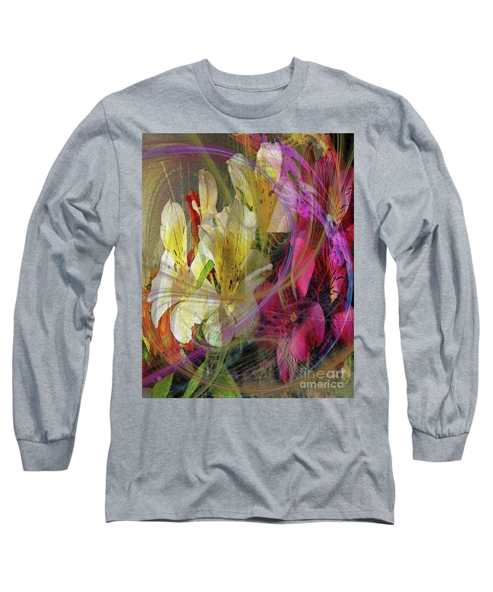 Floral Inspiration Long Sleeve T-Shirt featuring the digital art Floral Inspiration by John Beck