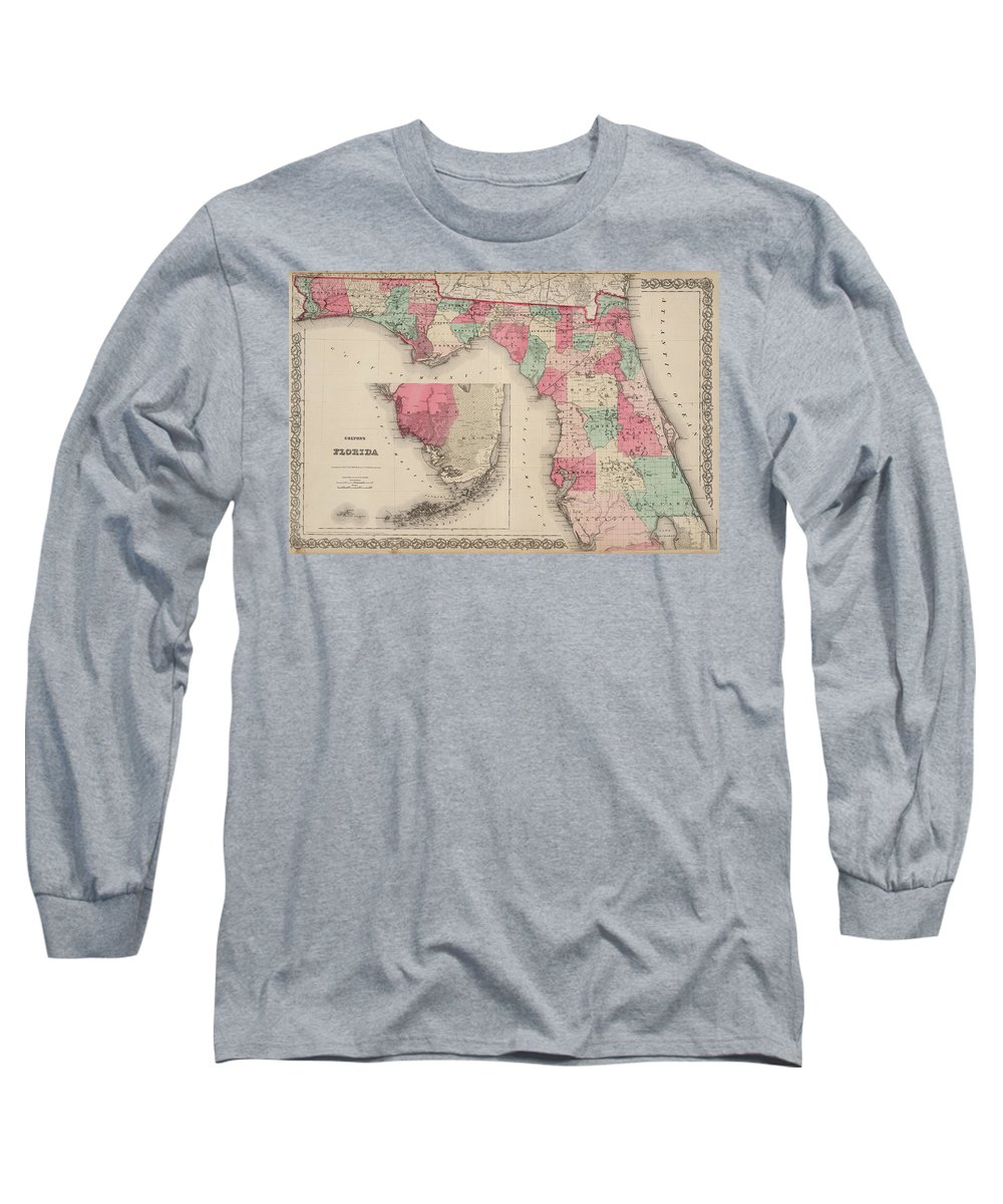 Florida Long Sleeve T-Shirt featuring the painting Florida by Colton
