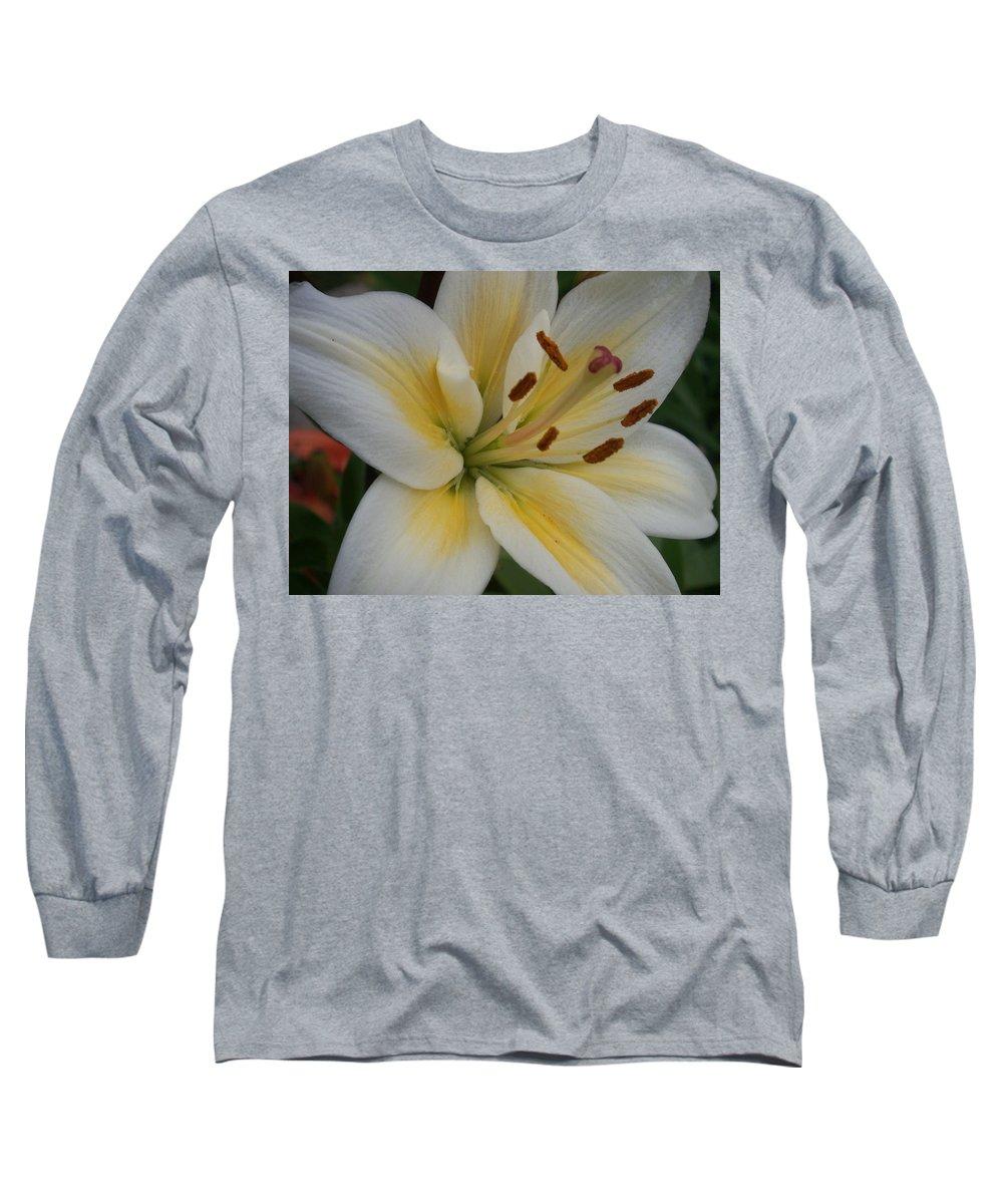 Flower Long Sleeve T-Shirt featuring the photograph Flower Close Up 1 by Anita Burgermeister