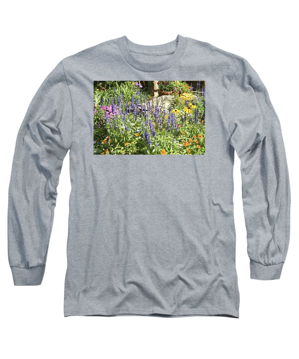 Flower Long Sleeve T-Shirt featuring the photograph Flower Garden by Margie Wildblood
