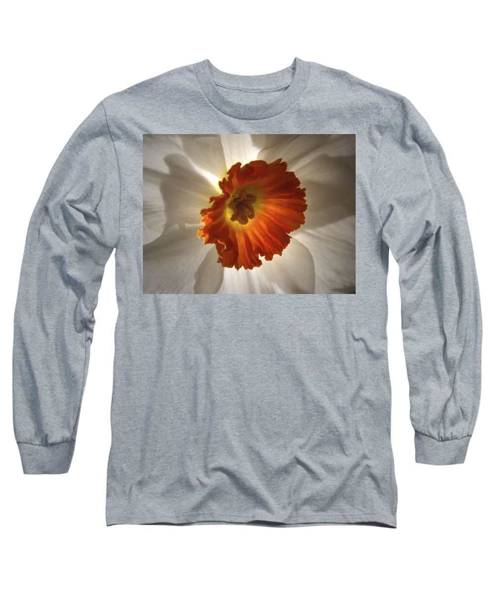Flowers Long Sleeve T-Shirt featuring the photograph Flower Narcissus by Nancy Griswold