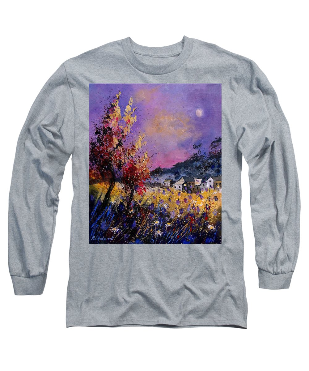 Long Sleeve T-Shirt featuring the painting Flowered Landscape 569070 by Pol Ledent