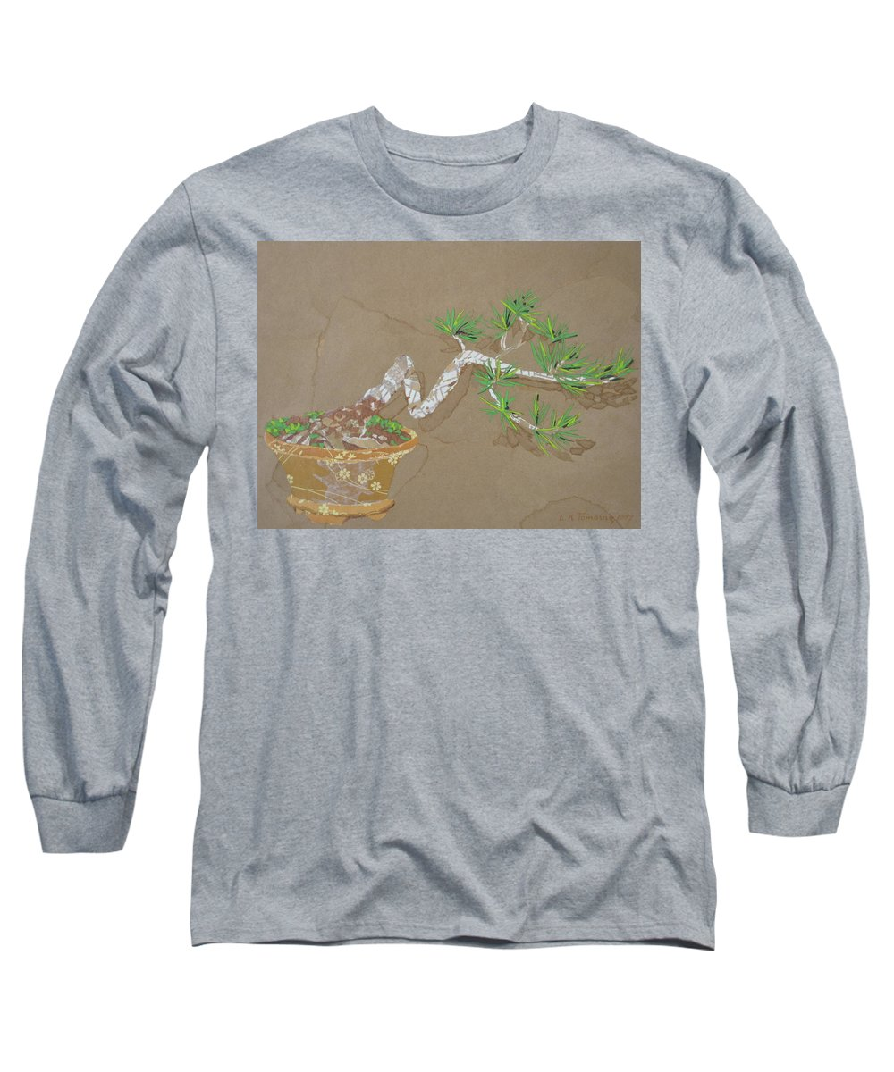 Banzai Tree Long Sleeve T-Shirt featuring the painting For Inge by Leah Tomaino