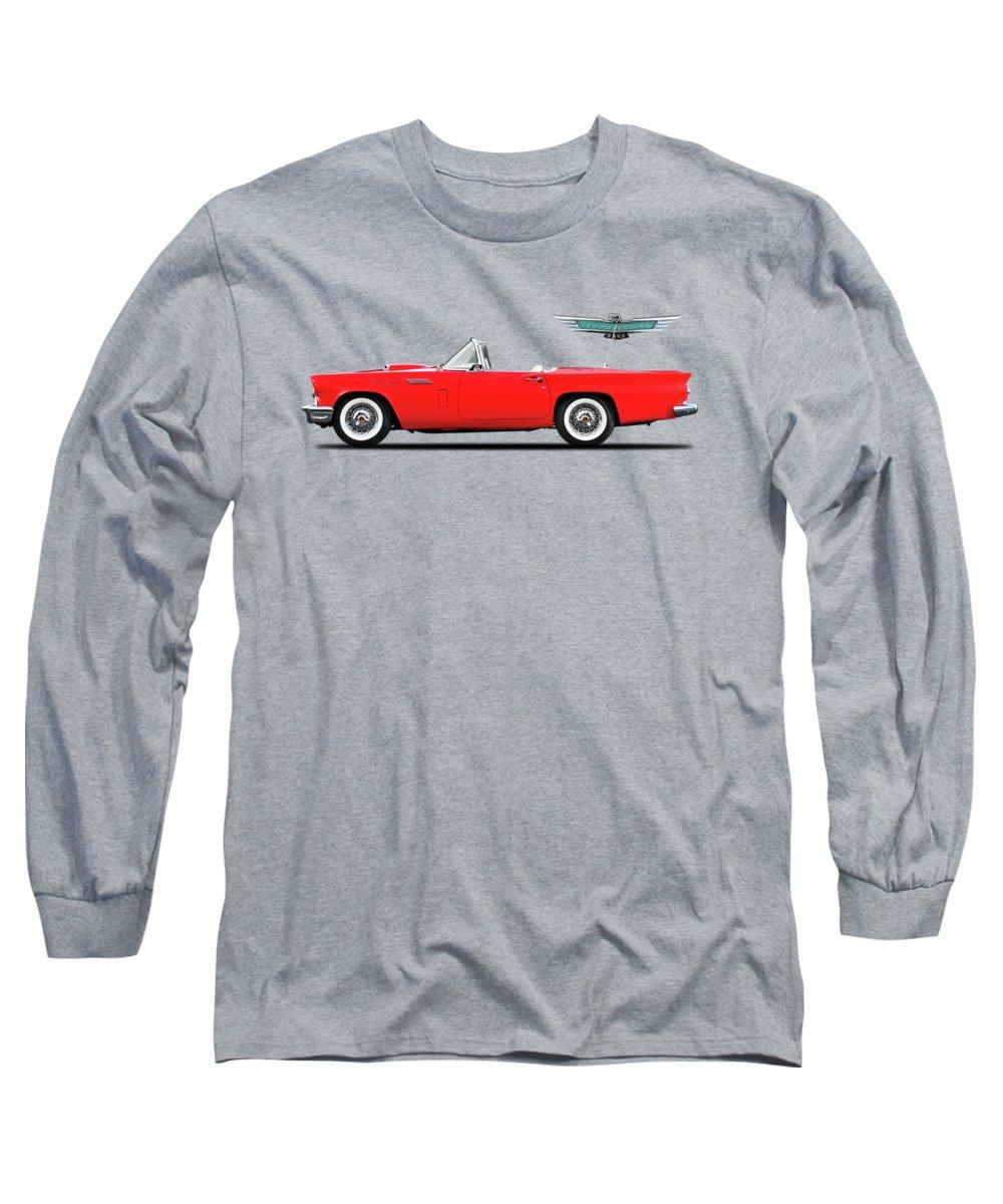 Ford Thunderbird 1957 Long Sleeve T-Shirt featuring the photograph Ford Thunderbird 1957 by Mark Rogan