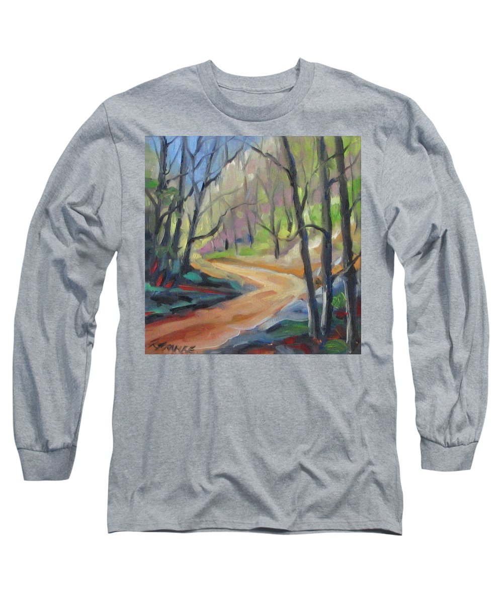Art Long Sleeve T-Shirt featuring the painting Forest Way by Richard T Pranke
