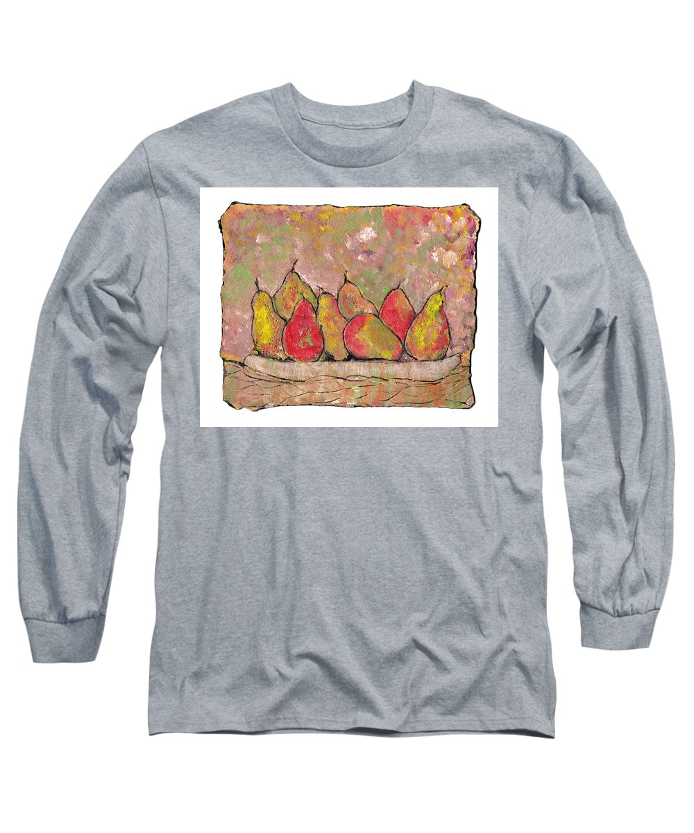 Pears Long Sleeve T-Shirt featuring the painting Four Pair Of Pears by Wayne Potrafka