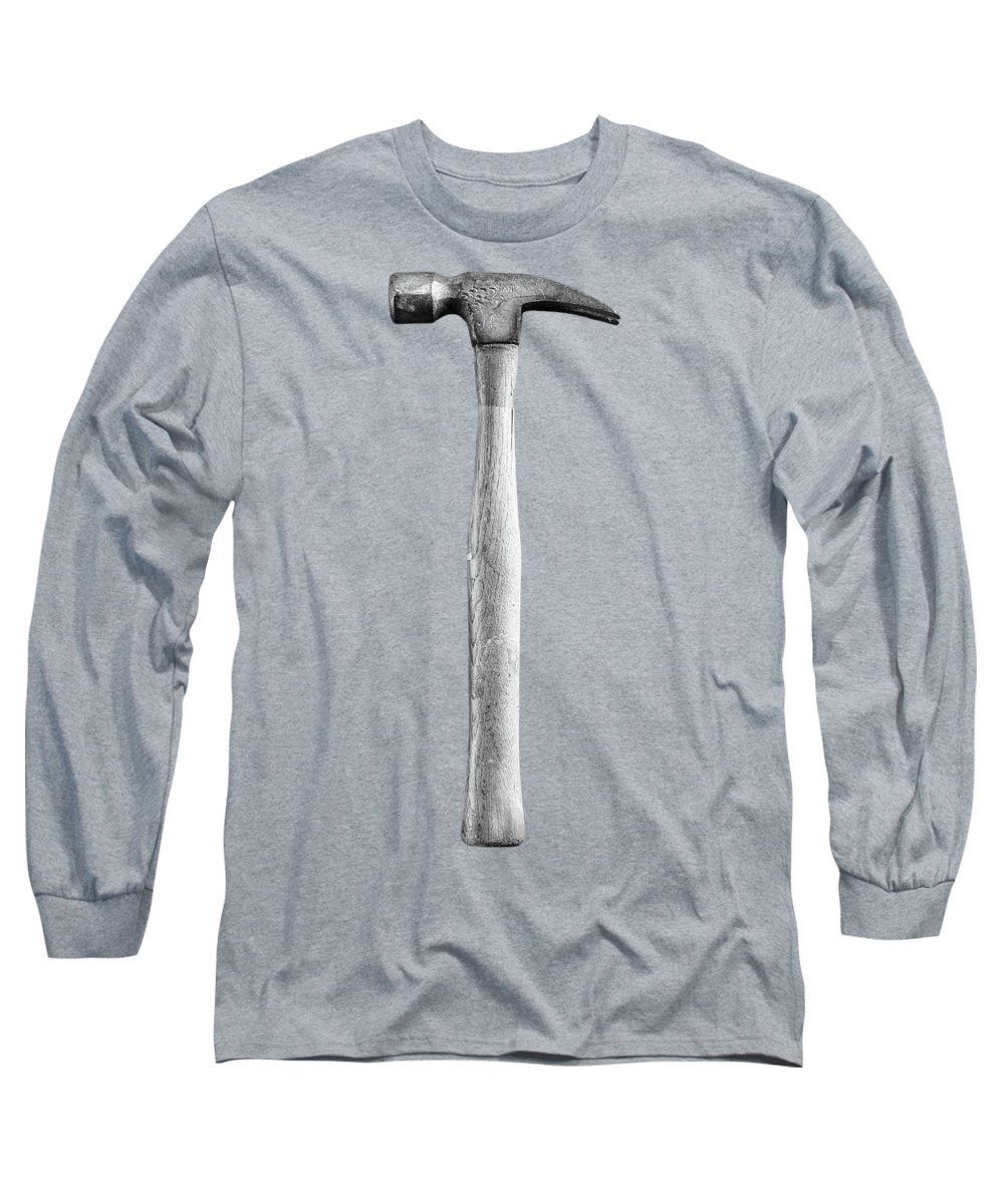 Art Long Sleeve T-Shirt featuring the photograph Framing Hammer L by YoPedro