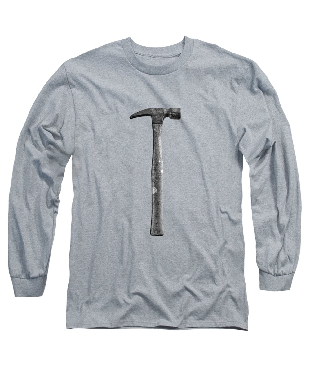Background Long Sleeve T-Shirt featuring the photograph Framing Hammer by YoPedro