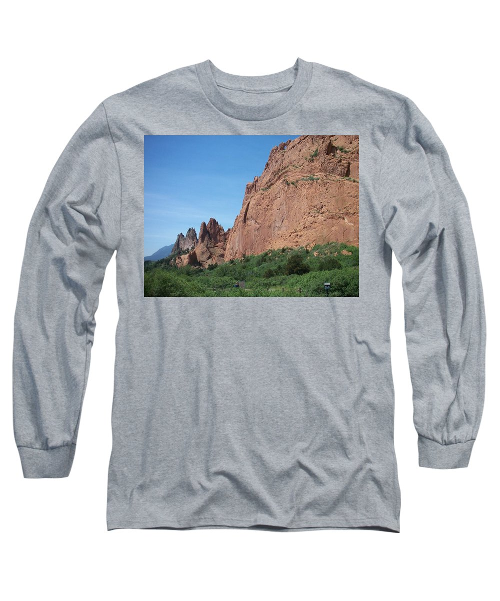 Colorado Long Sleeve T-Shirt featuring the photograph Garden Of The Gods by Anita Burgermeister