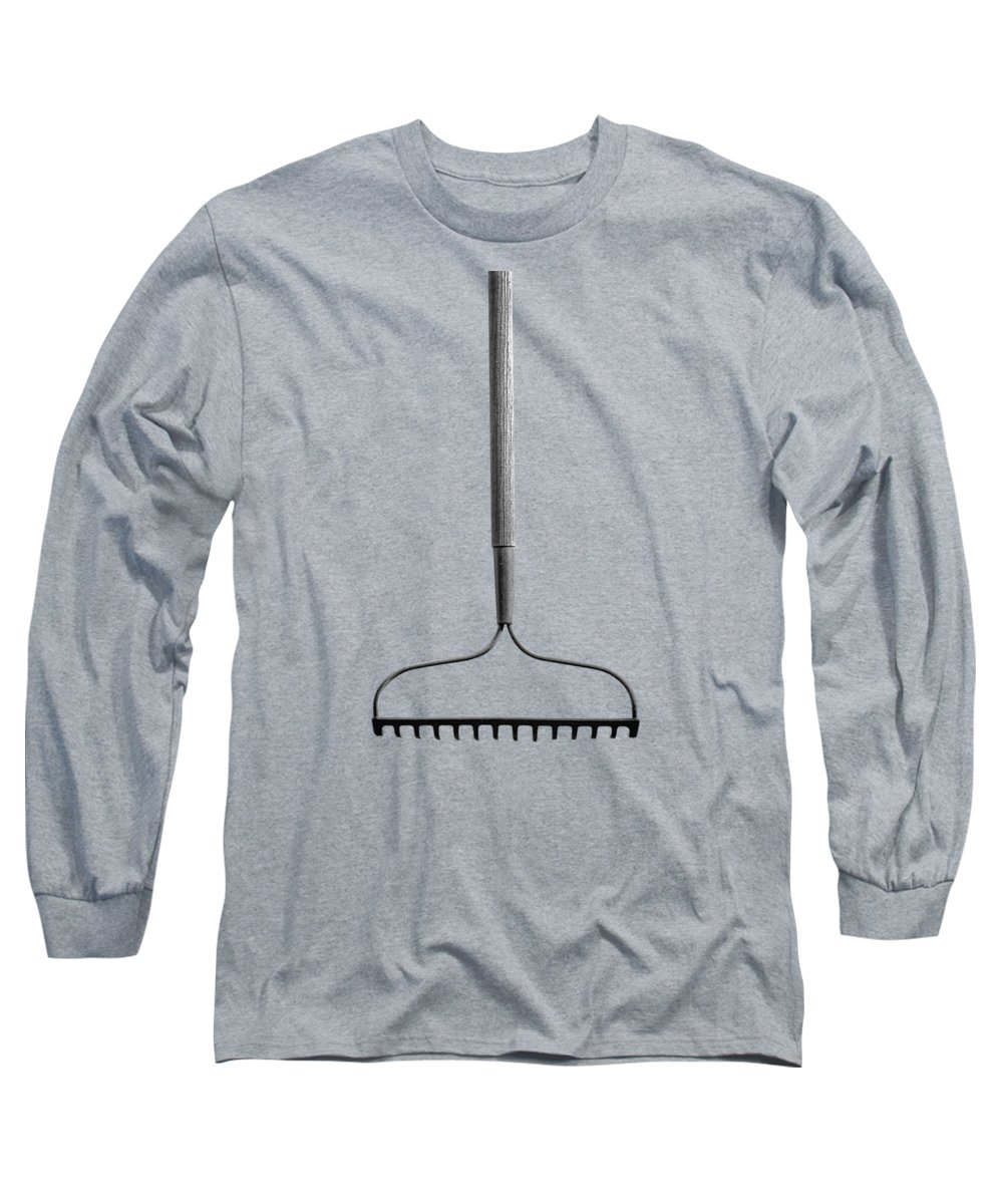 Black Long Sleeve T-Shirt featuring the photograph Garden Rake Down by YoPedro