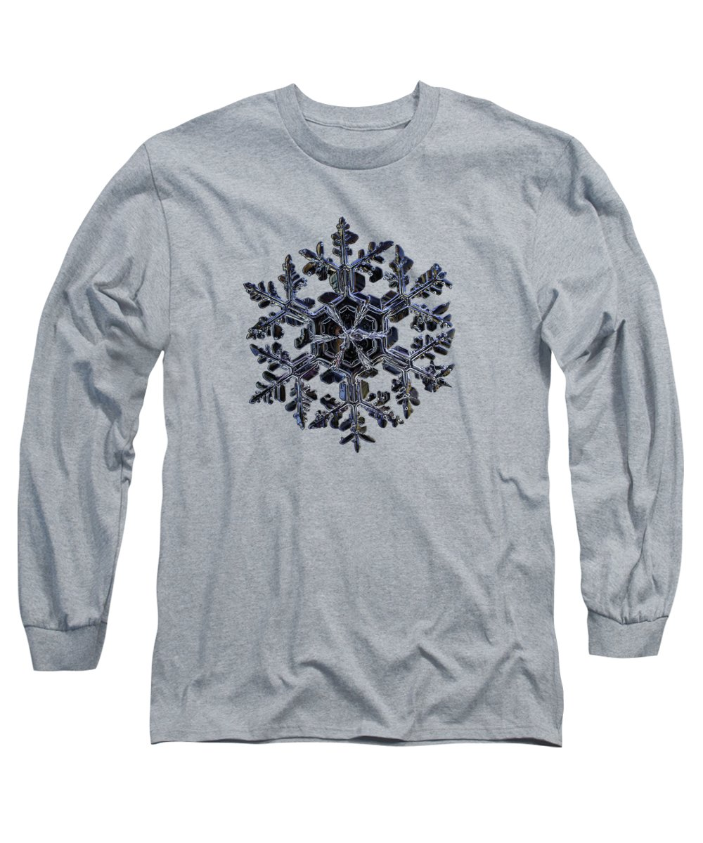 Snowflake Long Sleeve T-Shirt featuring the photograph Gardener's Dream, Dark On Black Version by Alexey Kljatov