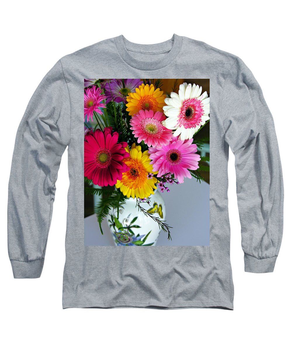 Flower Long Sleeve T-Shirt featuring the photograph Gerbera Daisy Bouquet by Marilyn Hunt
