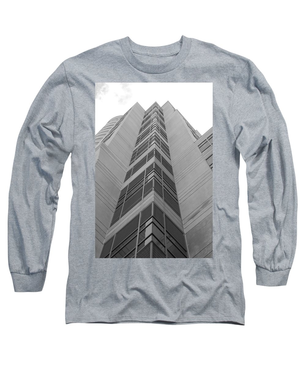 Architecture Long Sleeve T-Shirt featuring the photograph Glass Tower by Rob Hans