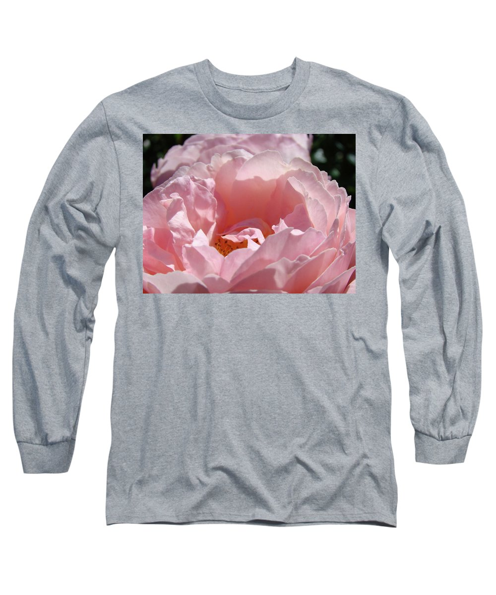 Rose Long Sleeve T-Shirt featuring the photograph Glowing Pink Rose Flower Giclee Prints Baslee Troutman by Baslee Troutman
