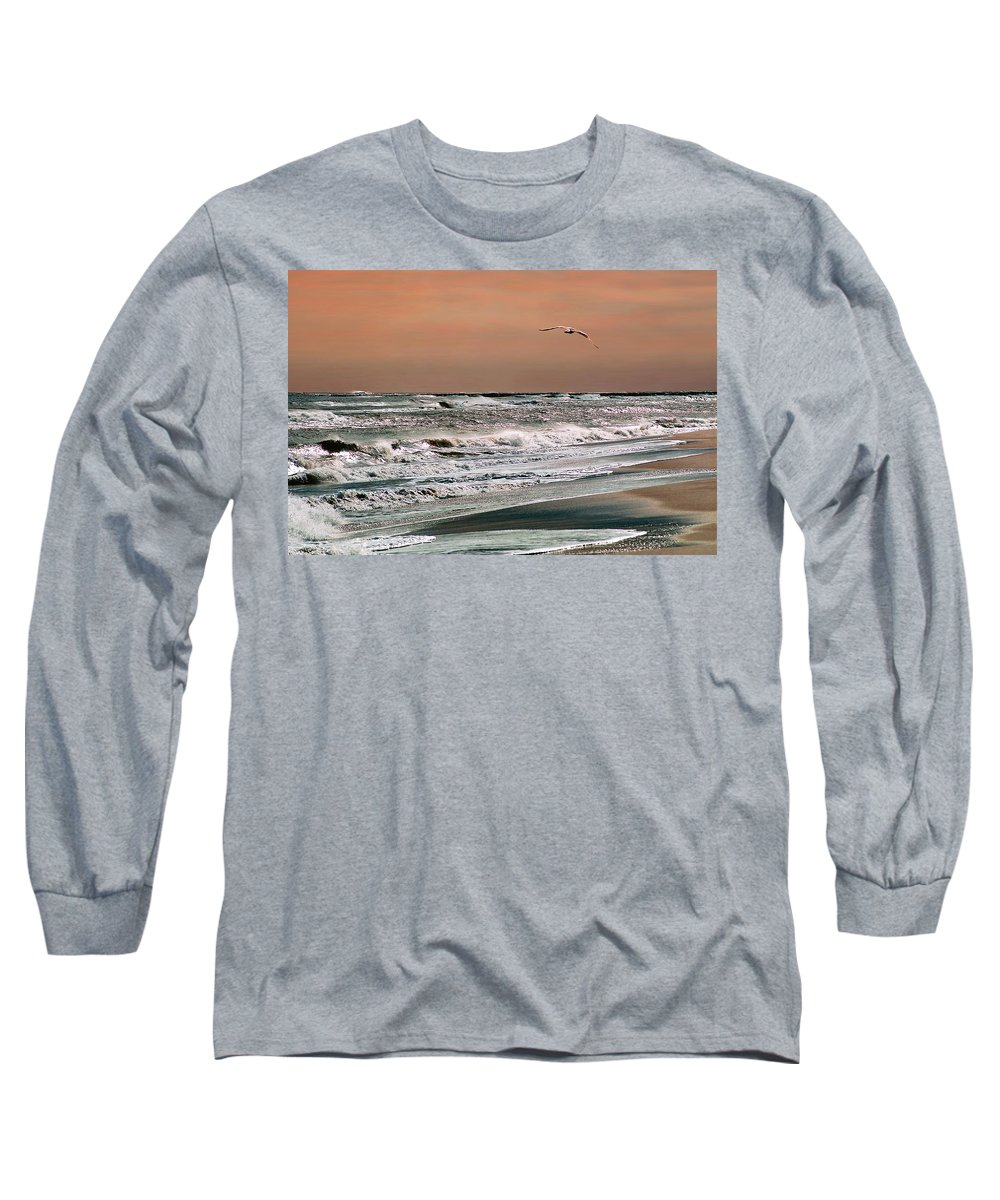 Seascape Long Sleeve T-Shirt featuring the photograph Golden Shore by Steve Karol