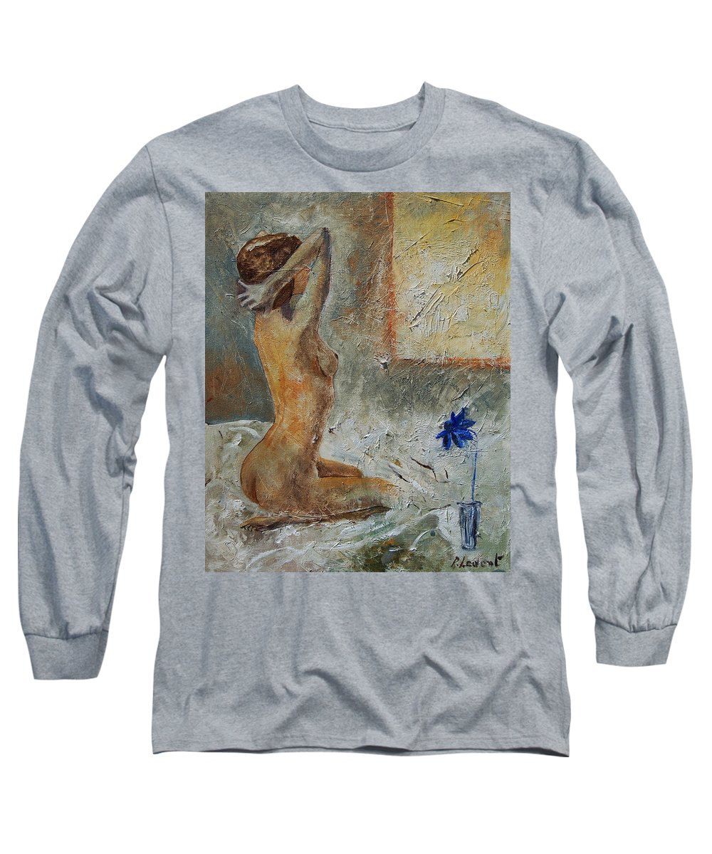 Nude Long Sleeve T-Shirt featuring the painting Good Morning Sunshine by Pol Ledent