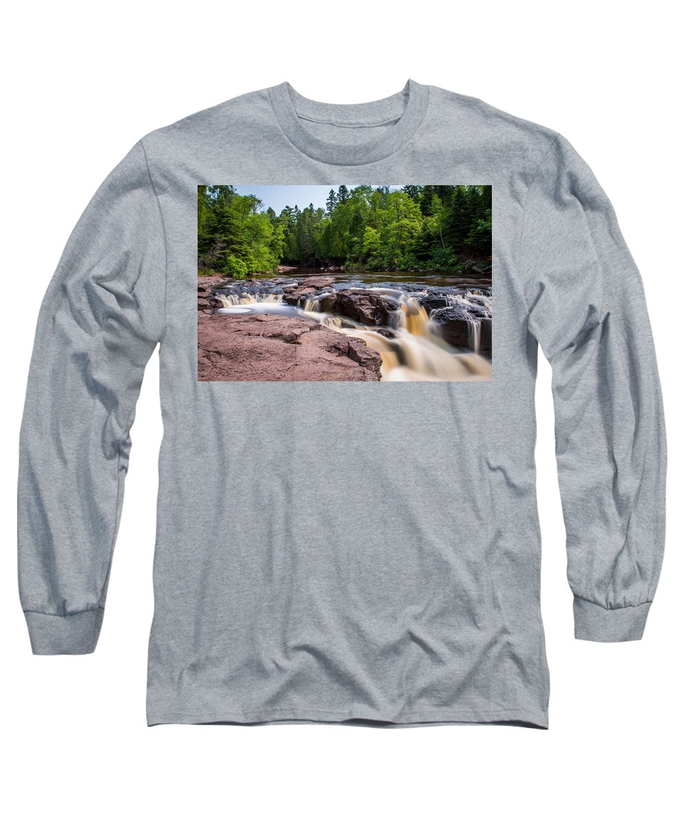 Upper Gooseberry Falls Long Sleeve T-Shirt featuring the photograph Goose Berry River Rapids by Paul Freidlund