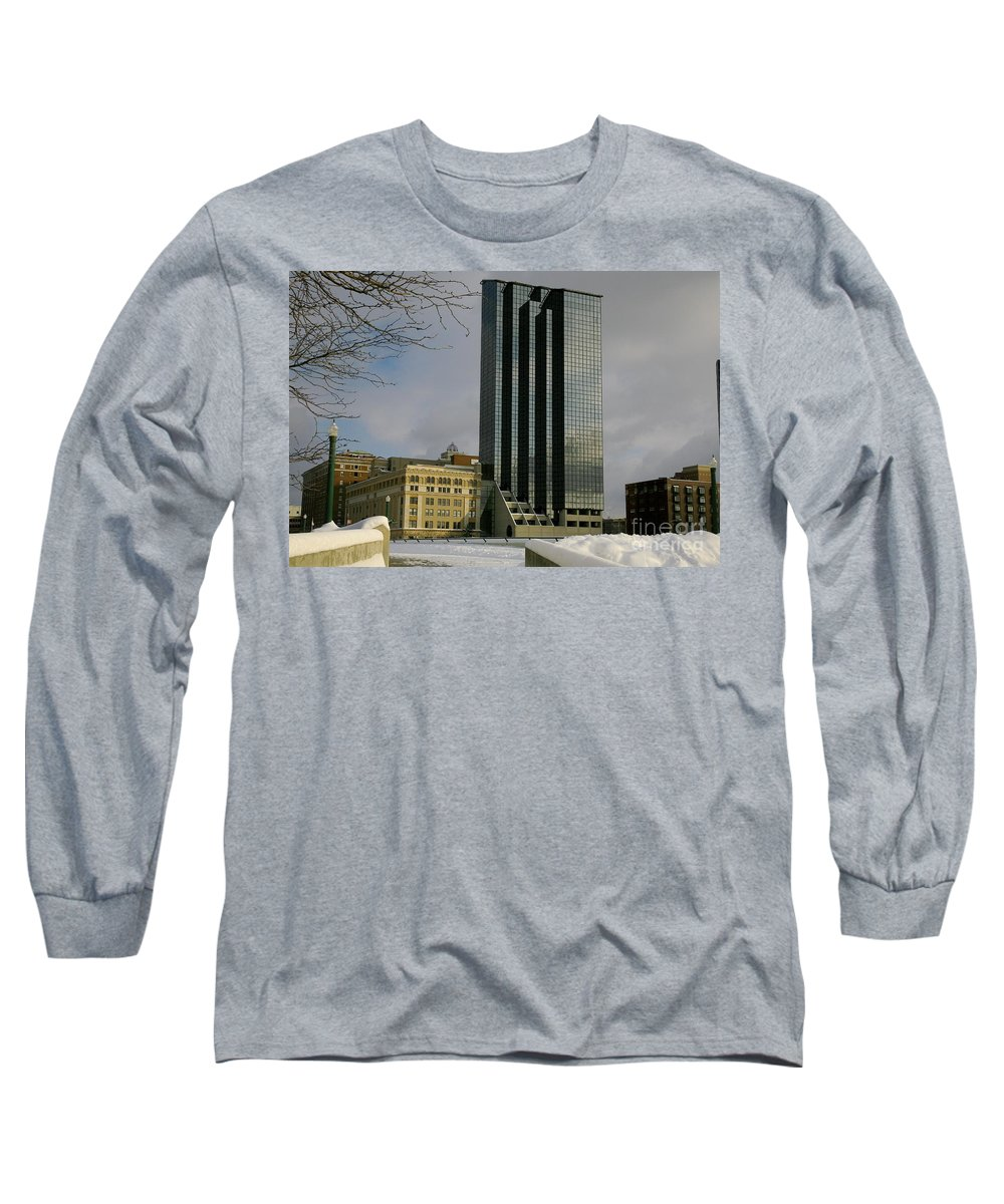Land Scape Grand Hotel City Long Sleeve T-Shirt featuring the photograph Grand Rapids Mi-4 by Robert Pearson