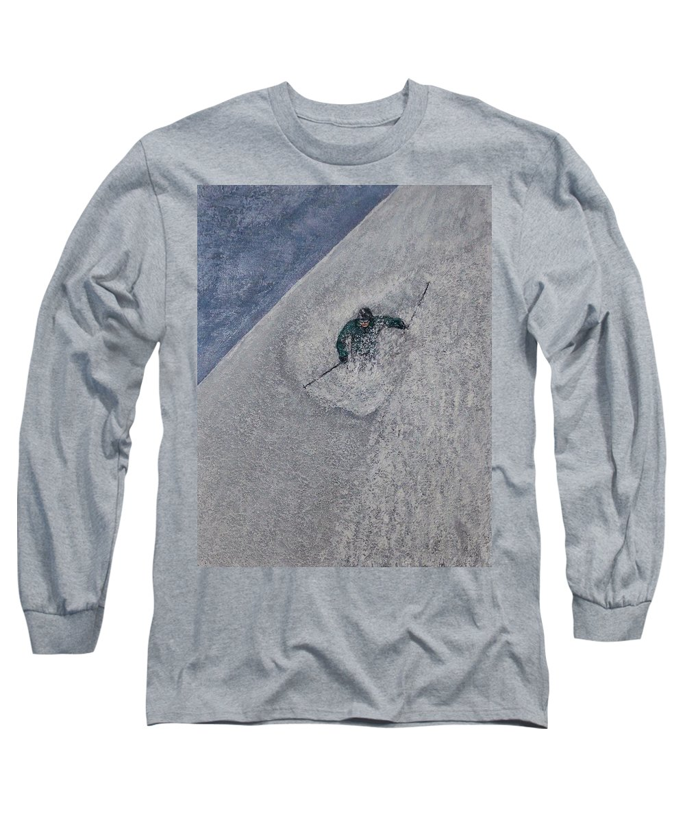Ski Long Sleeve T-Shirt featuring the painting Gravity by Michael Cuozzo