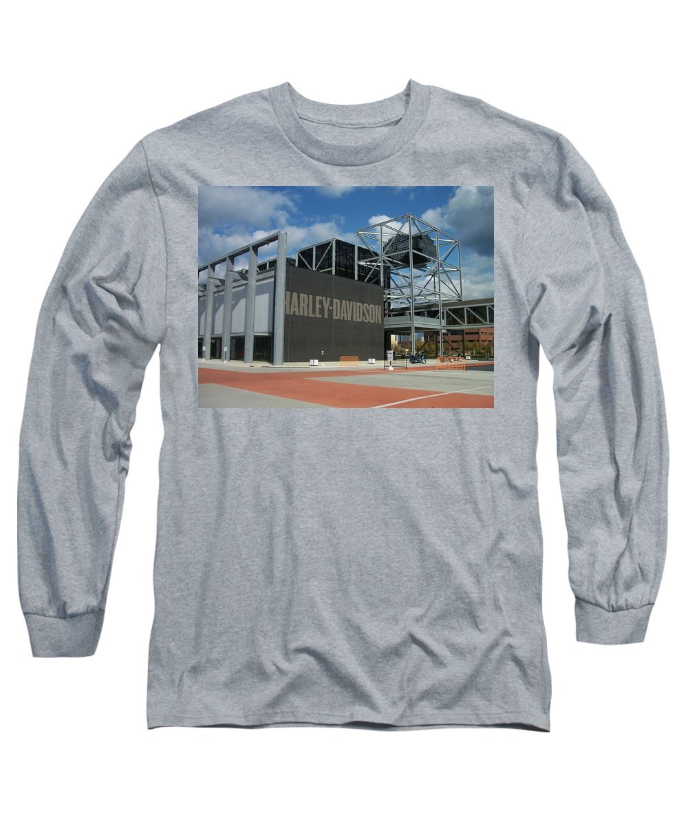 Long Sleeve T-Shirt featuring the photograph Harley Museum by Anita Burgermeister