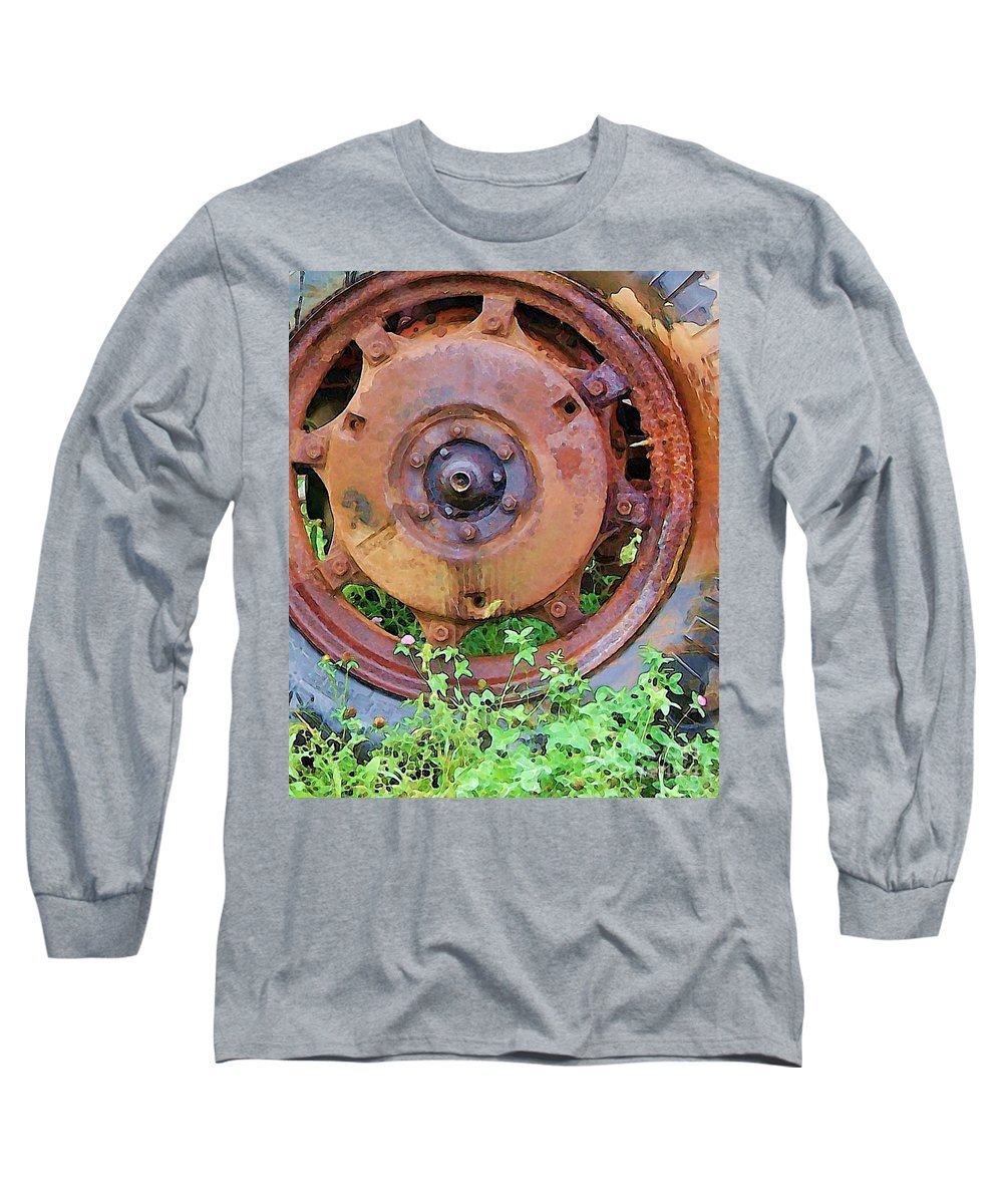 Rust Long Sleeve T-Shirt featuring the photograph Heavy Metal by Debbi Granruth