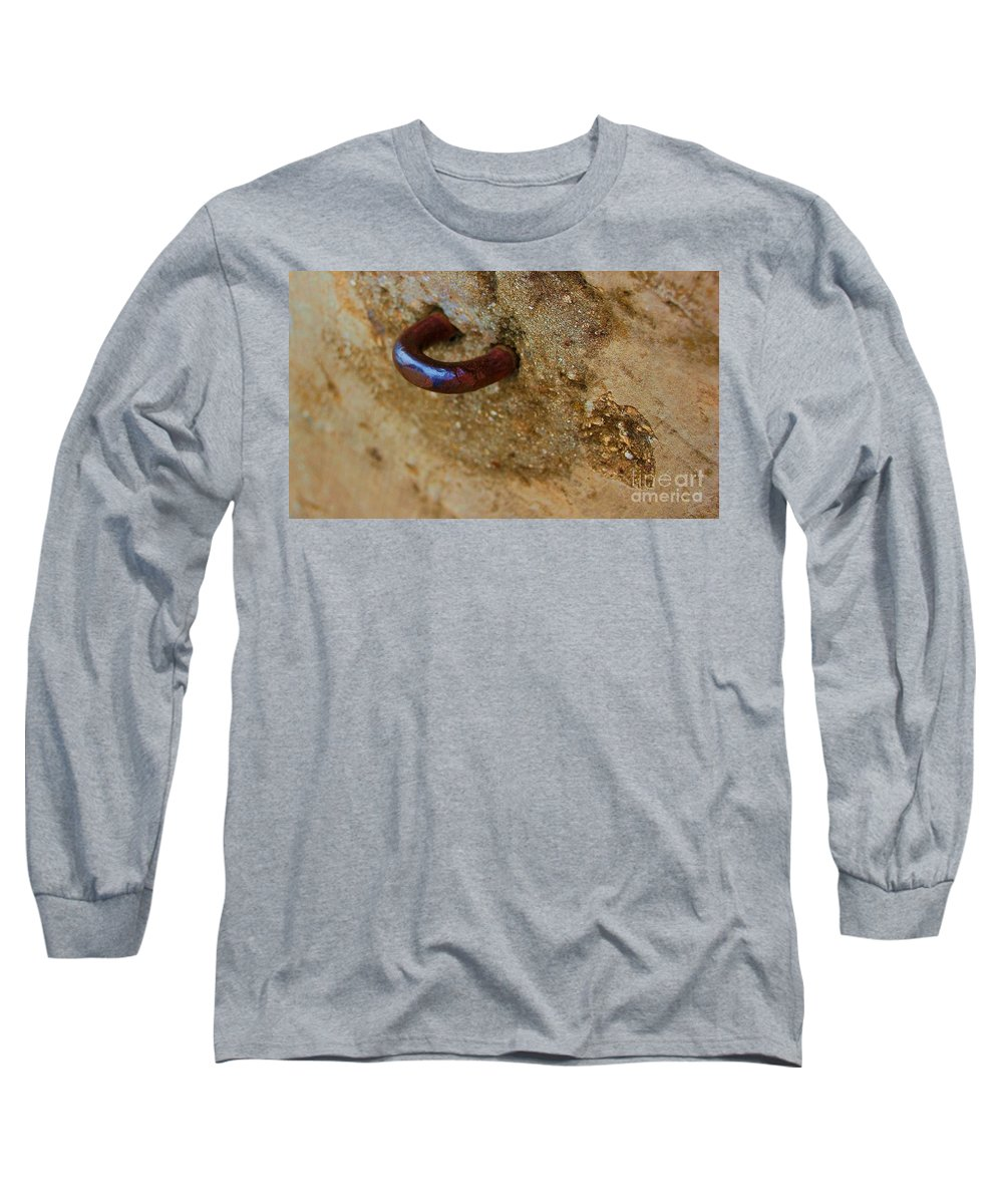 Concrete Long Sleeve T-Shirt featuring the photograph Hooked by Debbi Granruth