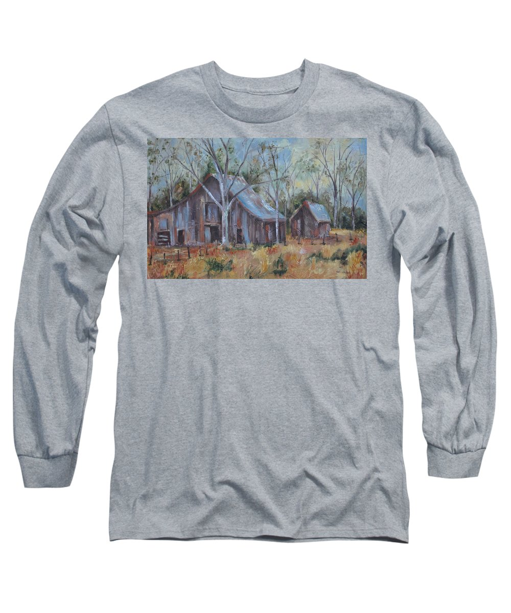 Barns Long Sleeve T-Shirt featuring the painting If They Could Speak by Ginger Concepcion