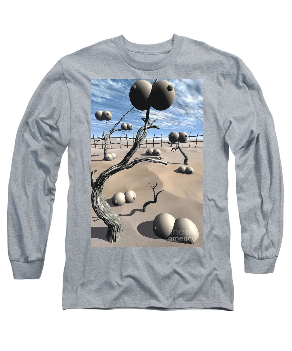 Humor Long Sleeve T-Shirt featuring the digital art Imm Plants by Richard Rizzo