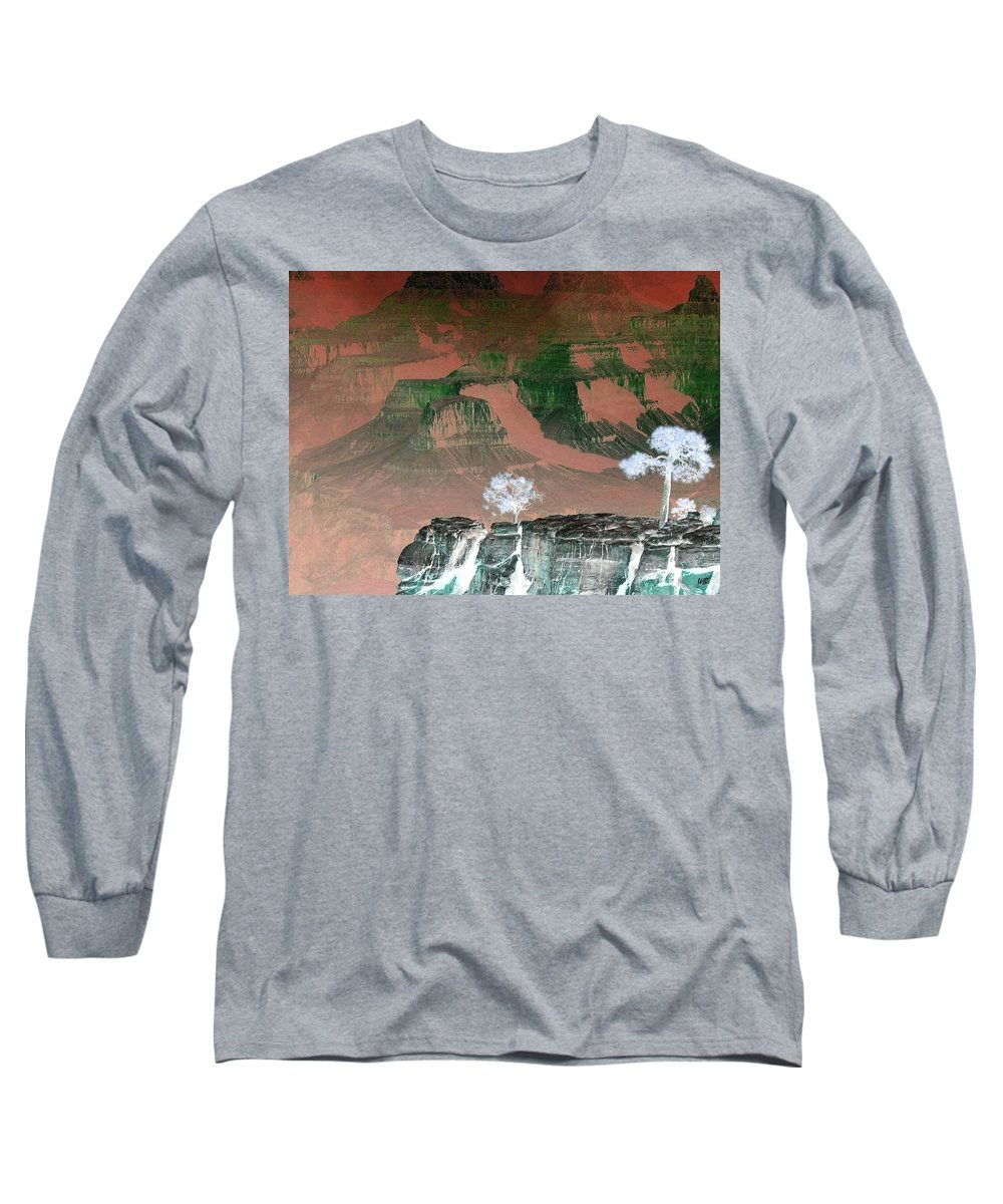 Impressions Long Sleeve T-Shirt featuring the digital art Impressions 8 by Will Borden
