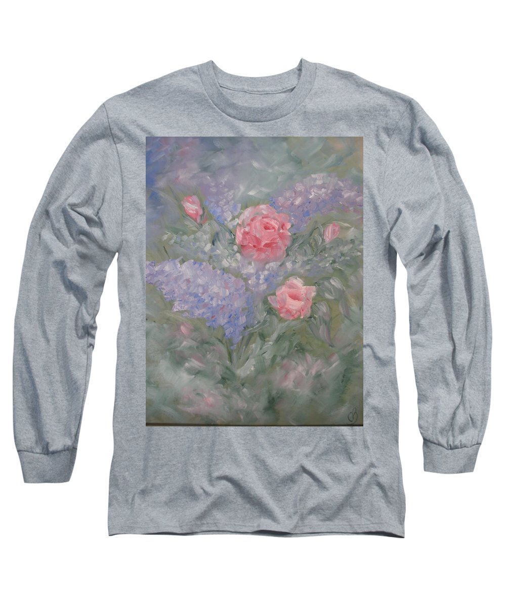 Flowers Long Sleeve T-Shirt featuring the painting In Bloom by Carrie Mayotte