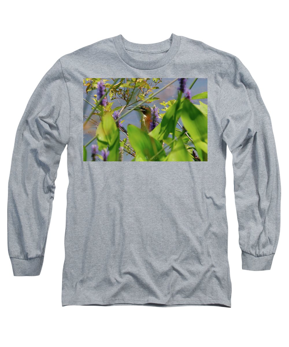 Long Sleeve T-Shirt featuring the photograph In Hiding by Tony Umana