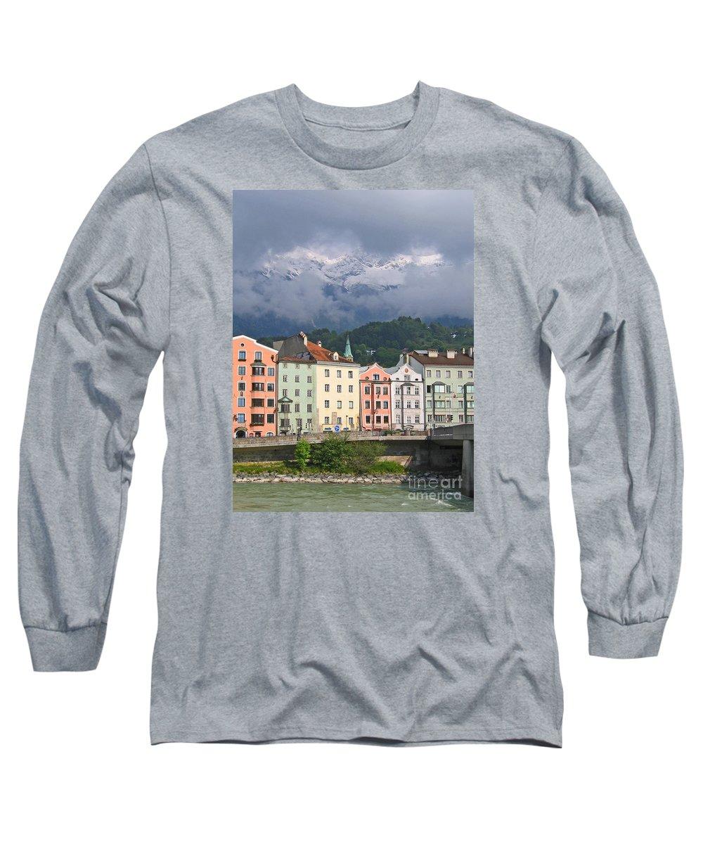 Innsbruck Long Sleeve T-Shirt featuring the photograph Innsbruck by Ann Horn