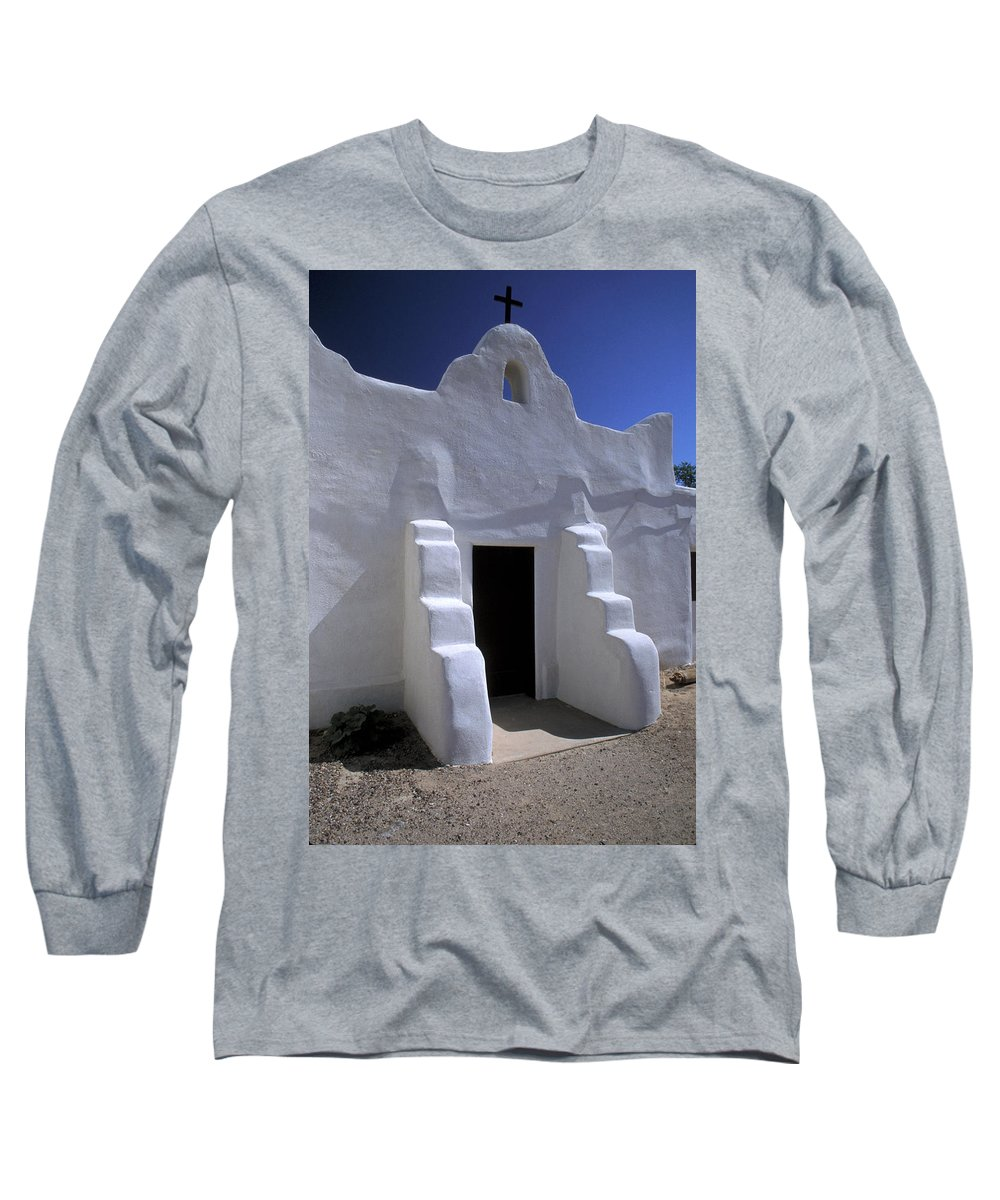 Adobe Long Sleeve T-Shirt featuring the photograph Isleta by Jerry McElroy