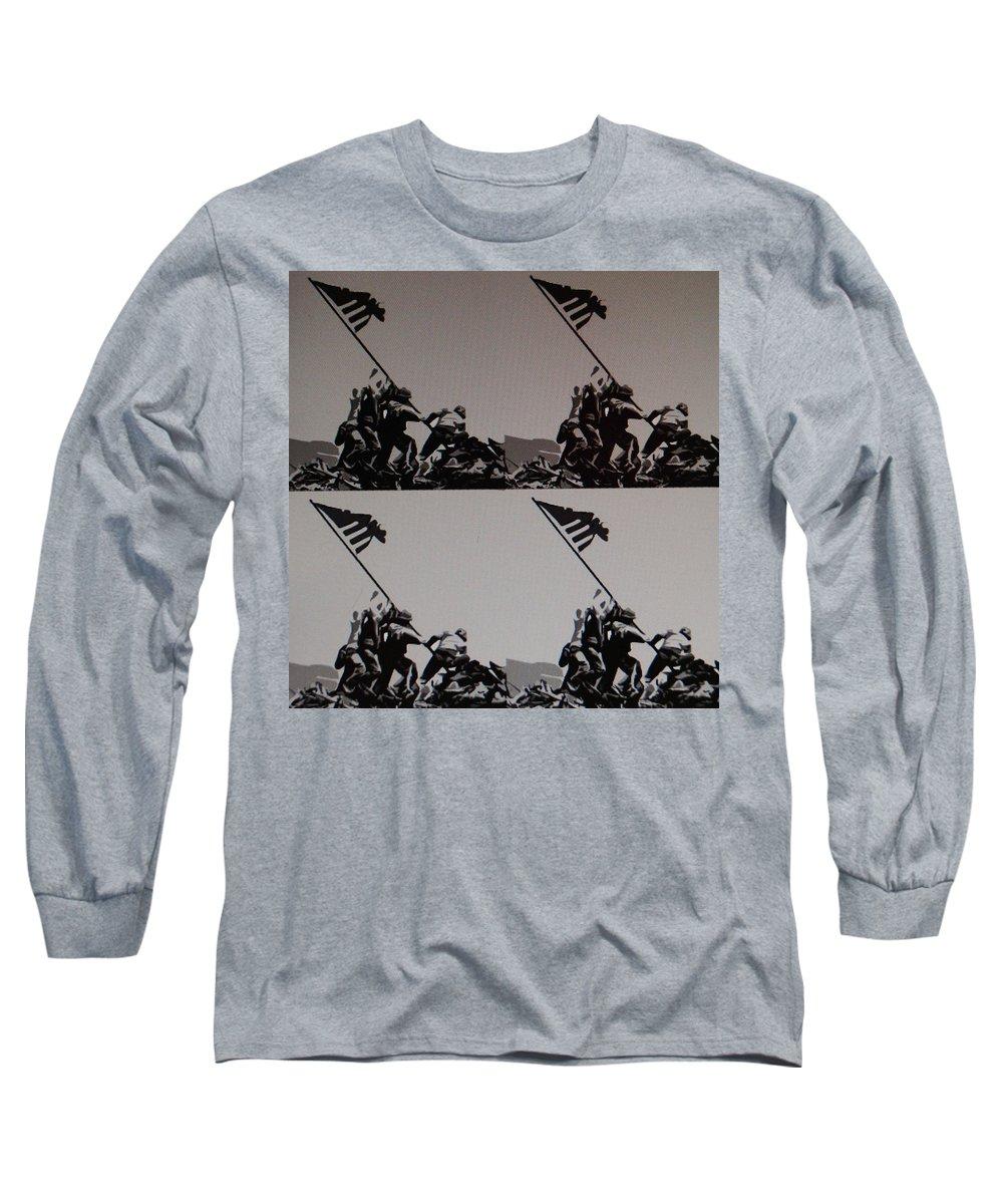Pop Art Long Sleeve T-Shirt featuring the photograph Iwo Jima by Rob Hans