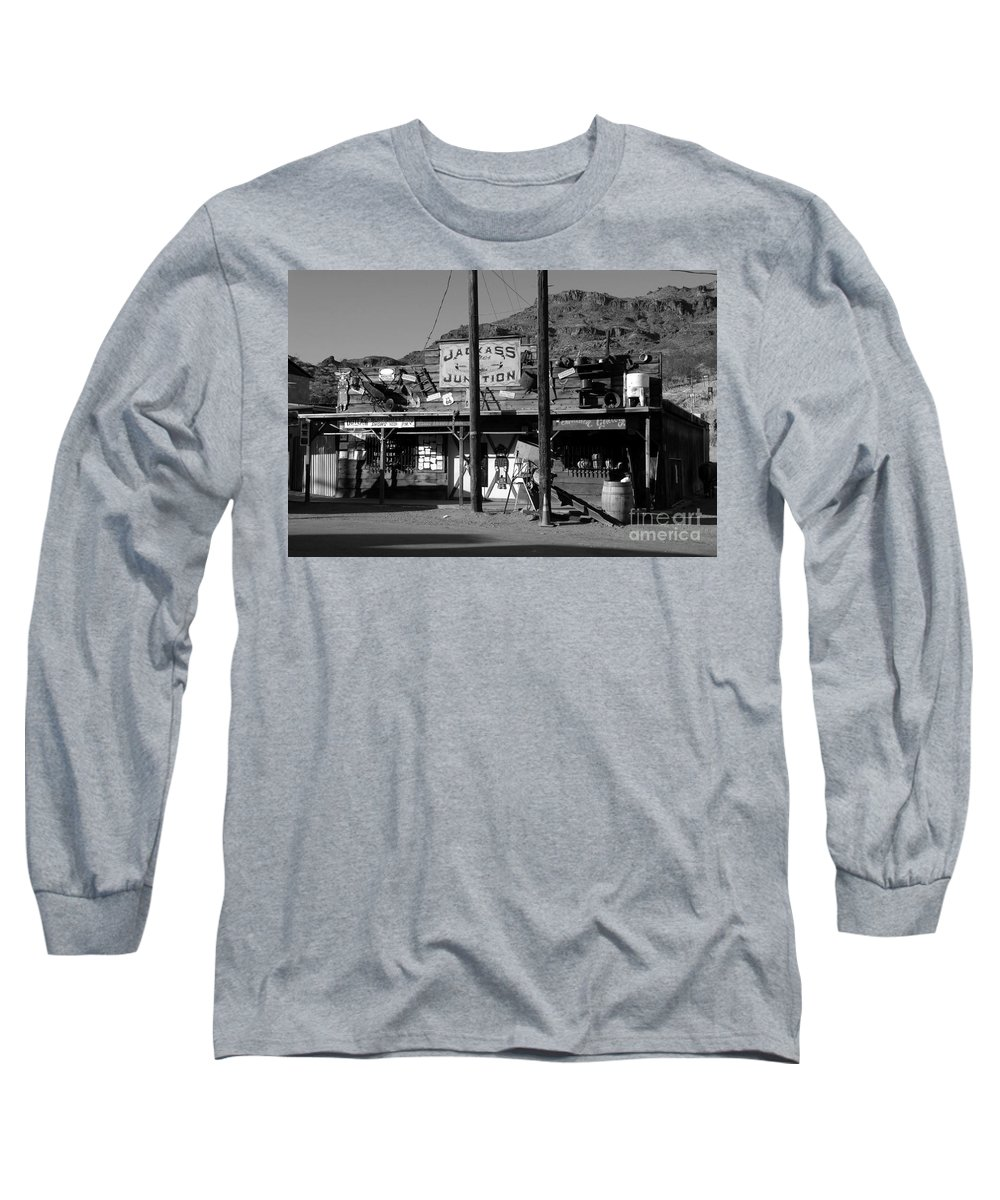 Arizona Long Sleeve T-Shirt featuring the photograph Jackass Junction by David Lee Thompson