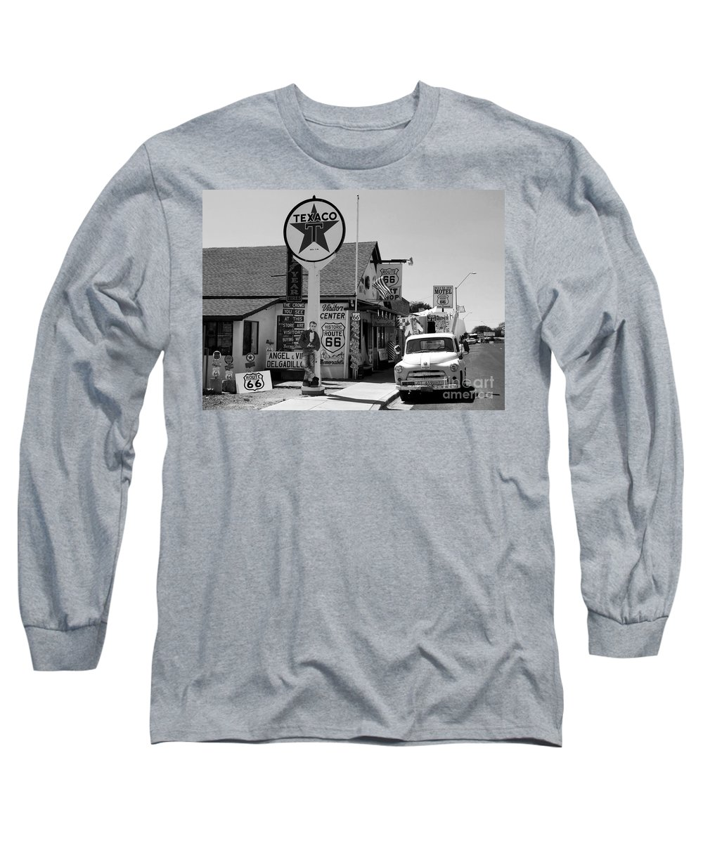 James Dean Long Sleeve T-Shirt featuring the photograph James Dean On Route 66 by David Lee Thompson