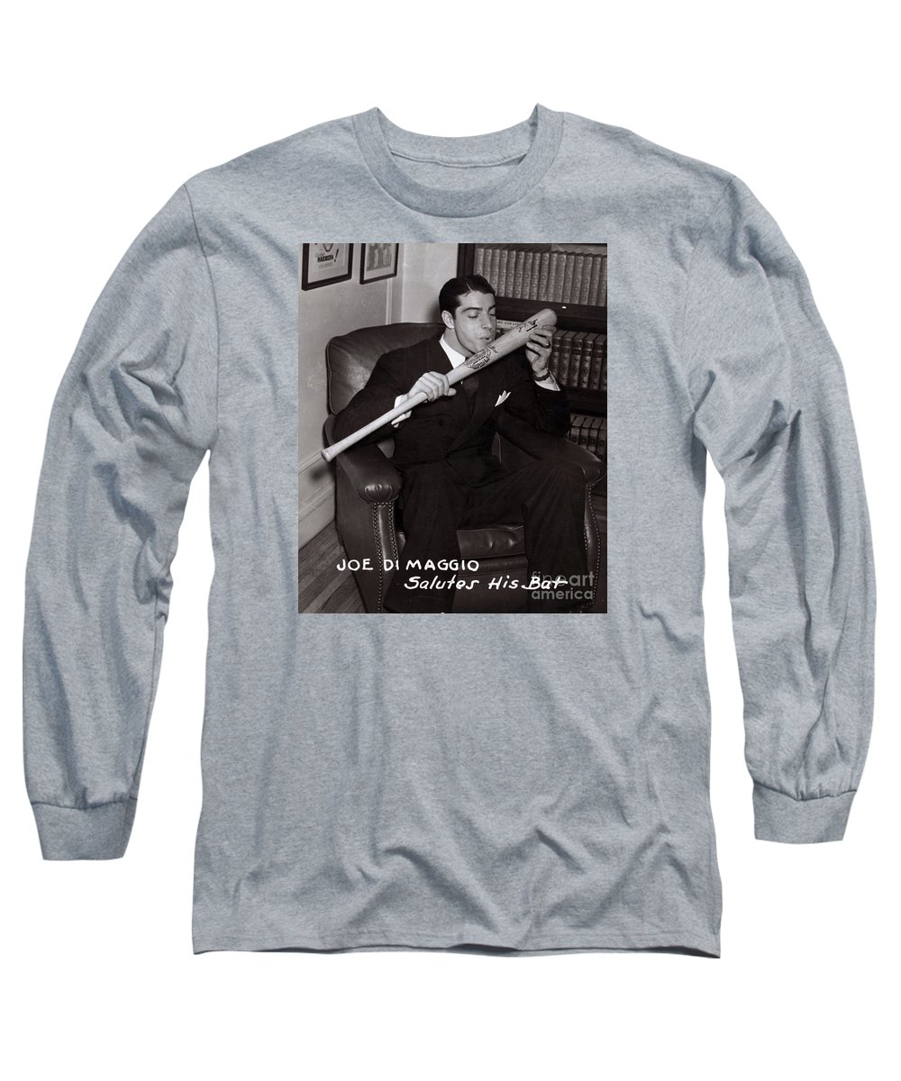 Sports Long Sleeve T-Shirt featuring the photograph Joe Dimaggio by Science  Source 50aa22df3ce