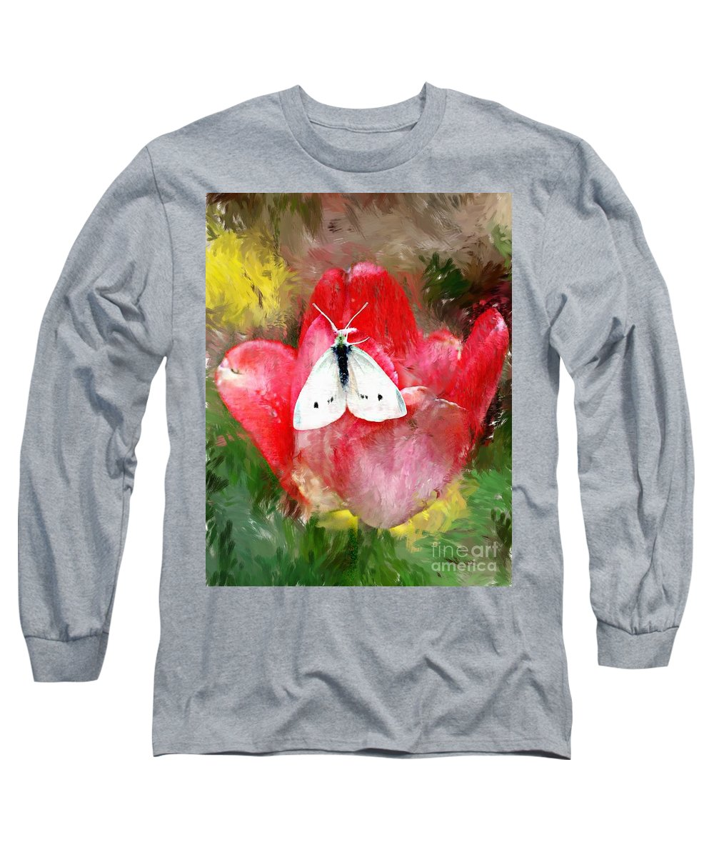 Digital Photo Long Sleeve T-Shirt featuring the photograph Just Visiting by David Lane