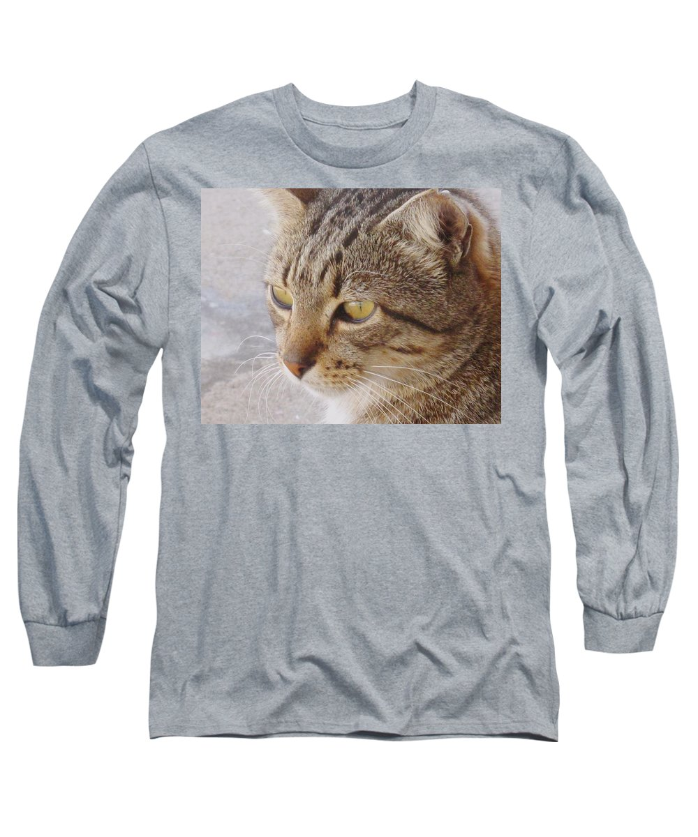 Cat Long Sleeve T-Shirt featuring the photograph King Cat by Ian MacDonald