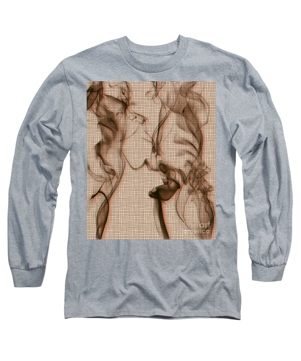 Clay Long Sleeve T-Shirt featuring the digital art Kitchen Problems by Clayton Bruster
