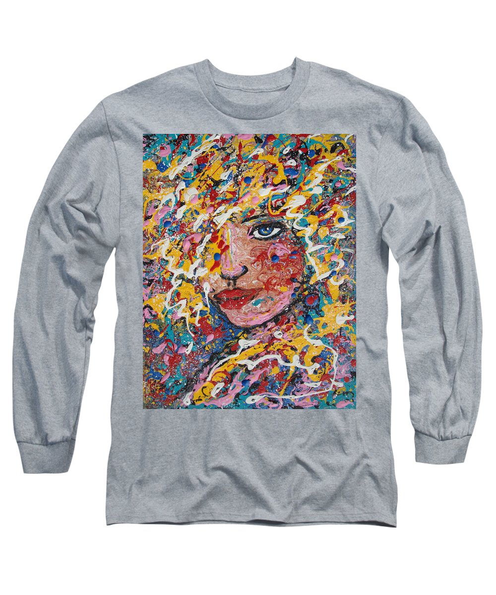 Woman Long Sleeve T-Shirt featuring the painting Kuziana by Natalie Holland