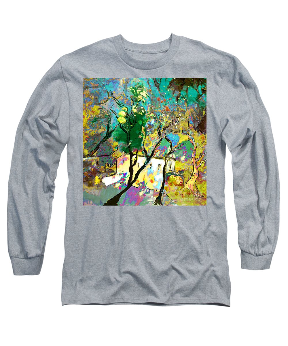 Miki Long Sleeve T-Shirt featuring the painting La Provence 16 by Miki De Goodaboom