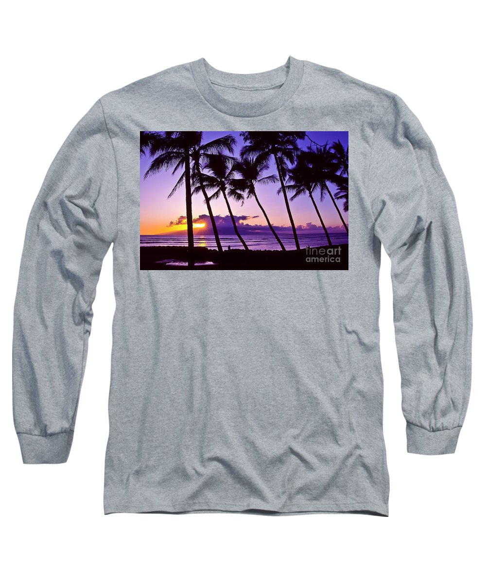 Landscapes Long Sleeve T-Shirt featuring the photograph Lanai Sunset by Jim Cazel