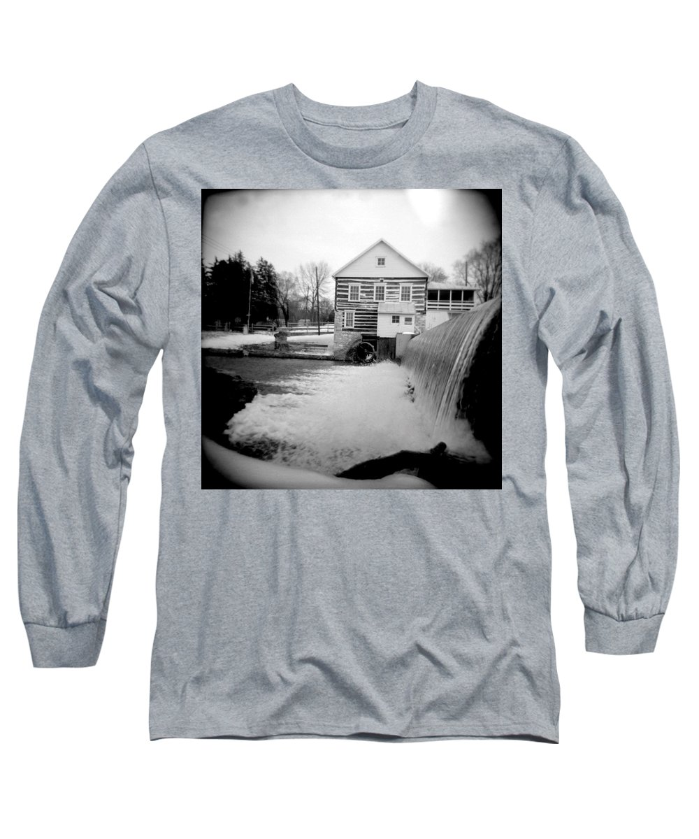 Photograph Long Sleeve T-Shirt featuring the photograph Laughlin Mill by Jean Macaluso