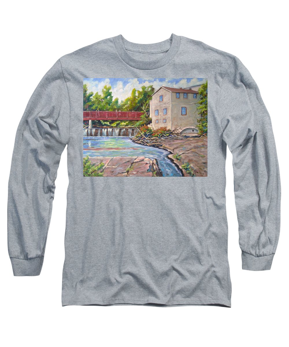 Mill Long Sleeve T-Shirt featuring the painting Legare Mill by Richard T Pranke