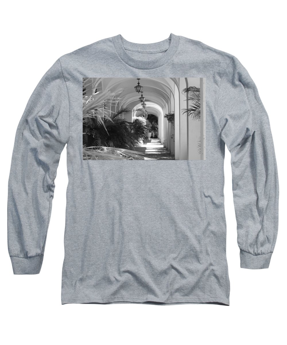 Architecture Long Sleeve T-Shirt featuring the photograph Lighted Arches by Rob Hans