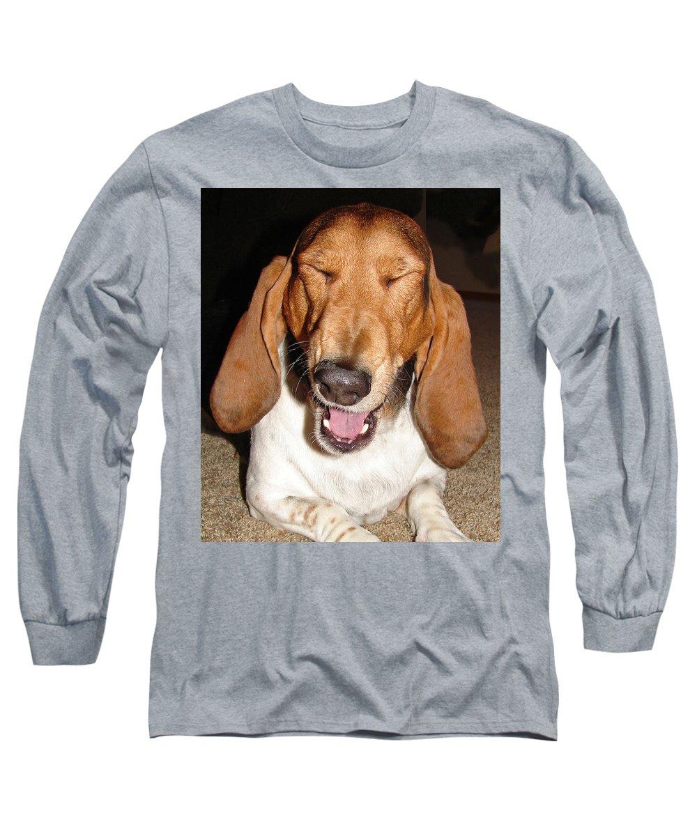 Basset Hound Long Sleeve T-Shirt featuring the photograph Lillard by Heather Coen