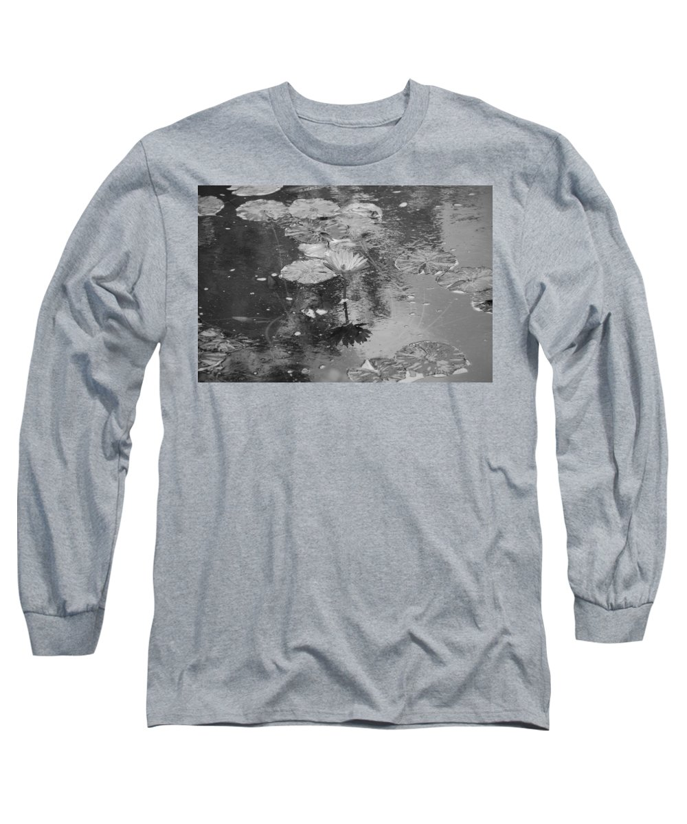 Lilly Pond Long Sleeve T-Shirt featuring the photograph Lilly Pond by Rob Hans