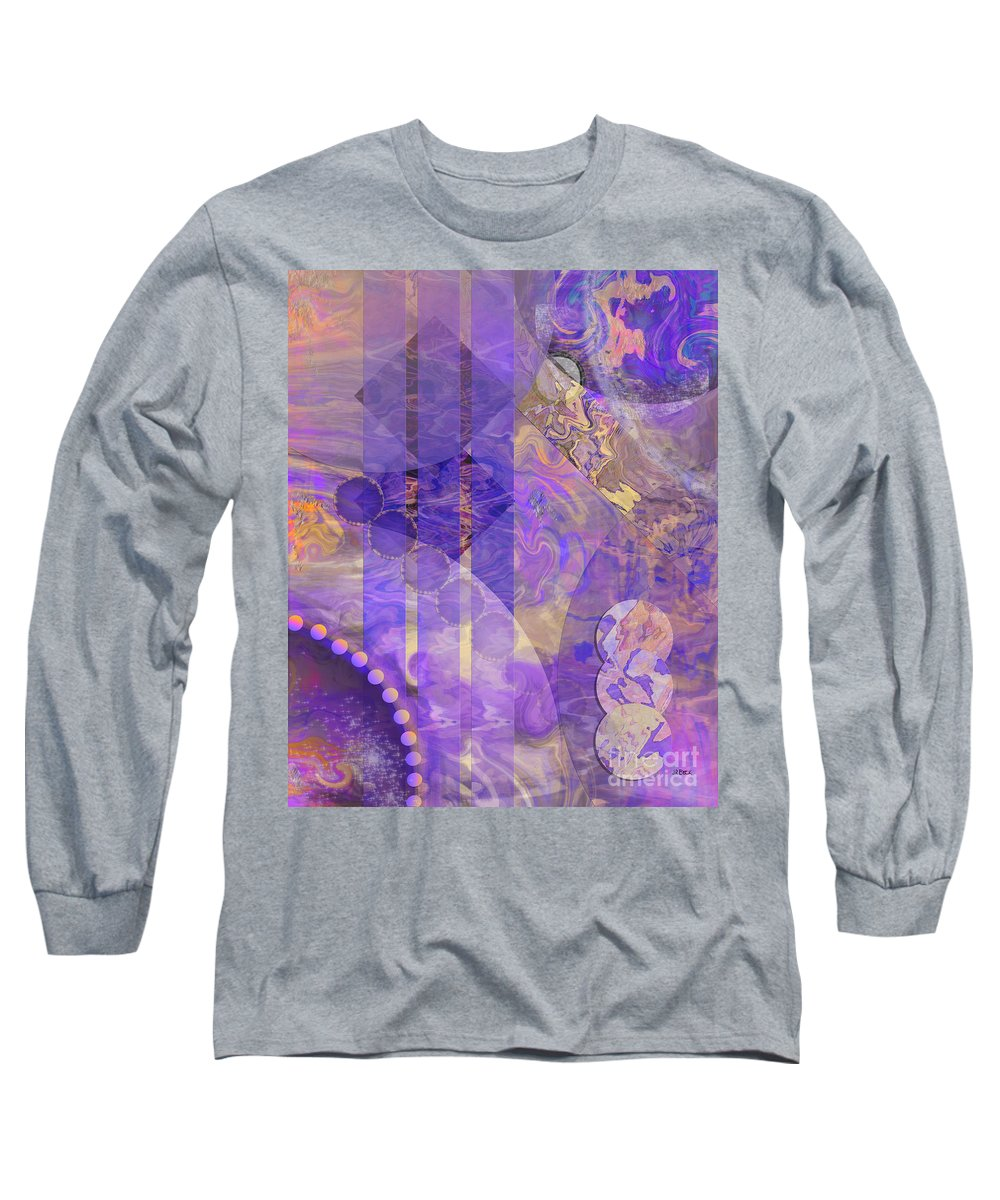 Lunar Impressions 2 Long Sleeve T-Shirt featuring the digital art Lunar Impressions 2 by John Beck